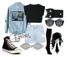 """Black is my happy color"" by hurricane-halsey ❤ liked on Polyvore featuring adidas Originals, Topshop, Hue, Valfré, Converse, women's clothing, women, female, woman and misses"