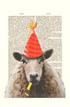 Party Sheep, $10 | 34 Unbelievably Awesome Works Of Art For Sale On Etsy