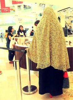True hijab #Syari #Khimar #LongDress Love it. Rasanga kok adeemm banget.