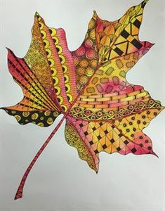 Artsonia is a gallery of student art portfolios where young artists (grades display their art worldwide. We have a vibrant community of art teachers who also share their ideas and lesson plans. Leaf Crafts, Fall Crafts, Arts And Crafts, Autumn Art, Autumn Leaves, Dry Leaf Art, Painted Leaves, Zentangle Patterns, Nature Crafts