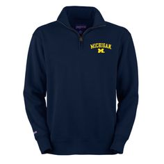 Michigan Athletics Game Day Swag For HIM - JanSport University of Michigan Navy 1/4 Zip Pullover Sweatshirt from the M-Den