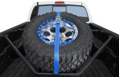 N-Fab Spare Tire Rack With Strap In Single Configuration