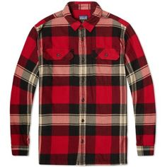 Patagonia Fjord Flannel Shirt (Terrace Classic Red)
