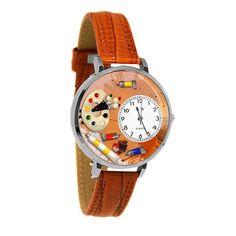 Artist Watch in Silver finish makes a great Artist Gift Idea for Artist Woman or an Artist Man