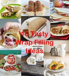 #wraps #fillings #lunches #dinner #breakfast #chocolate #healthy 16 Tasty Wrap filling ideas  http://www.themummytoolbox.com/?p=411