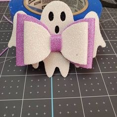 Ghost Bow SVG Halloween Bow Template Ghost Hair Bow SVG   Etsy Halloween Hair Bows, Halloween Ghosts, Bow Template, Templates, Glitter Canvas, Cute Ghost, Cute Bows, Silhouette Designer Edition, As You Like