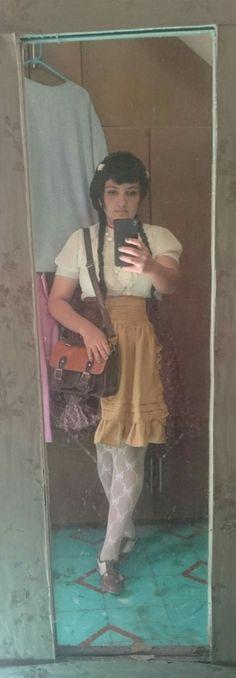 My first otome  #otome #kei #fashion #skirt #Brown #red #handmade