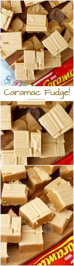 Based on the idea of a Classic, This Caramac Fudge is Much Easier to Make Than you Think – So Fudgey, Delicious, and Caramac-y! Fudge Recipes, Candy Recipes, Sweet Recipes, Baking Recipes, Köstliche Desserts, Delicious Desserts, Dessert Recipes, Yummy Food, Churros