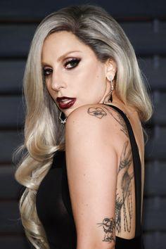 """Lady Gaga arriving at the 2015 Vanity Fair Oscar Party (2.22.15)"""