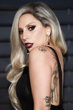 """Lady Gaga arriving at the 2015 Vanity Fair Oscar Party (2.22.15)"""