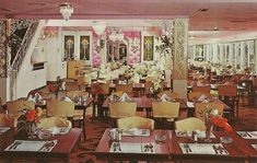 Crescent Beach Hotel - Many celebrations through the decades -   photo of the dining room in it's heyday.  Real swanky   #MyHometownPins