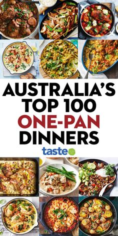 Here it is: Australia's favourite dinners needing only one pan, pot or tray. The ultimate convenient midweek meal, they're quick to pull together, anyone can cook them and the best bit, they cut down on washing up. Easy Meals For Kids, Easy Family Meals, Quick Meals, Easy Cooking, Cooking Recipes, Soup Recipes, Recipies, Aussie Food, One Pot Dinners