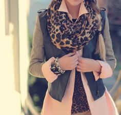 that jacket... with leopard... amazing