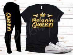 Create T Shirt, Melanin Queen, Custom Tees, Capri Leggings, Cotton Tee, To My Daughter, Shirts, Clothes, Tops