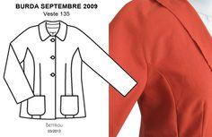Bettikou: Défi CAP ou PAS CAP - Veste 135, Burda septembre 2009