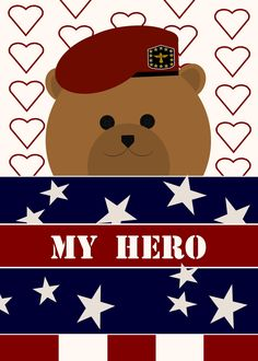<3 My Hero card 2015 Veteran's Day Debut! Unique patriotic greeting card design to send your #milhero anytime of year. Click link to  find a uniform that matches your hero's and send to warm their hearts while you are apart. : )