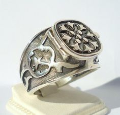 925 Sterling Silver Men's Ring with Hidden by MASTERofSILVER, $51.00