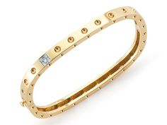 Roberto Coin Pois Moi 18-Karat Yellow Gold Five Round Brilliant Cut Diamonds: 0.07cttw Width: 5mm Style #: 888523AJBAXS Stock #170-2000132