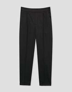 Spodnie jogger typu tailoring - Spodnie - Odzież - Dla Niej - PULL&BEAR Polska