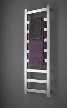 Heated towel racks: Keeping green in the bathroom – Completehome - towel rail Hang Towels In Bathroom, Small Bathroom, Bathroom Ideas, Cozy Bathroom, Master Bathroom, Bathroom Rack, Ikea Bathroom, Bath Ideas, Bathroom Designs