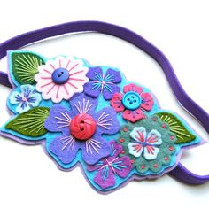 Floral hairbands are so cute!