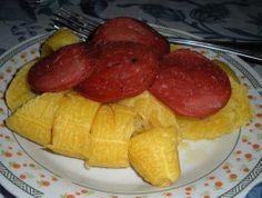salami frito con platanos maduros - I can eat this everyday!!!!