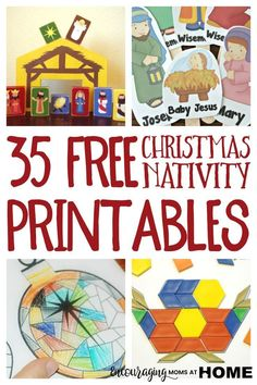 Looking for a fun way to focus on the Christmas story in your homeschool? Take a look at our FREE Christmas Nativity Printables and Coloring Pages. Also included in this post is a wonderful list of Christmas Nativity Crafts, Activities and Snacks to ad Christmas Stories For Kids, Christmas Crafts For Kids To Make, Christmas Activities For Kids, Preschool Christmas, Christmas Nativity, A Christmas Story, Kids Christmas, Holiday Crafts, Christmas Printables