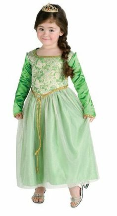 Shrek Princess Fiona Costume by Rubies. $21.96. From the Manufacturer                Dressed as Princess Fiona, the fairy tale princess from Shrek and the world's favorite ogress this will be the most magical Halloween yet. Beautiful satin and taffeta gown features sleeves that teareth away for warmer climates. Costume includes sparkly tiara and playful Shrek tattoos                                    Product Description                Princess Fiona Karate Costume I...