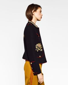 ZARA - TRF - JACKET WITH EMBROIDERY