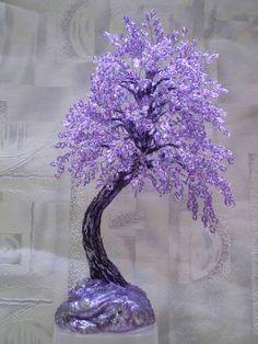 VFL.RU - ваш фотохостинг French Beaded Flowers, Wire Flowers, Victorian Flowers, Plastic Flowers, Felt Flowers, Flowering Bonsai Tree, Tree Of Life Art, Wire Tree Sculpture, Crystal Tree