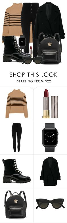 """""""Untitled #5437"""" by beatrizvilar ❤ liked on Polyvore featuring Topshop Unique, Urban Decay, River Island, 3.1 Phillip Lim, Juun.j, Versace and CÉLINE"""