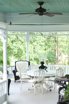 One of the happiest times in my life was when I had a screened porch just like this one in a 1920's cottage by the sea. -Victoria Magazine