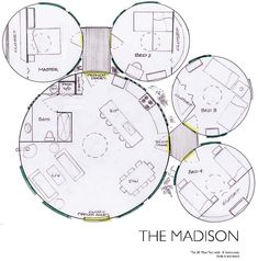 This is perfect except that the kitchen will be circular and in the center and there will be a loft above the bath.