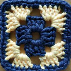 lisablue76 crochet granny square