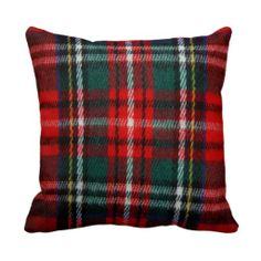 Realistic Tartan Plaid Texture Throw Pillow