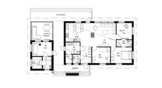 Kaarna10020pohjakuva2-web-Jetta-Talo Small Spaces, House Plans, Sweet Home, Floor Plans, Layout, Flooring, How To Plan, Architecture, Building