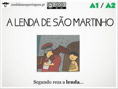 Atividade online, níveis A1-A2: A Lenda de São Martinho.