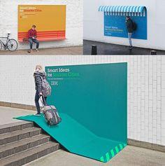 IBM: Smart Ideas for Smarter Cities Useful Billboards Guerilla Marketing Photo Guerilla Marketing, Street Marketing, Marketing Ideas, Environmental Graphics, Environmental Design, Creative Advertising, Local Advertising, Ads Creative, Print Advertising