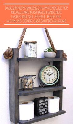 Metall /& Holz Wand hängende Regal industrieller moderne Speicher Regal Flur Home