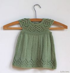 I used the Muti pattern to knit this cute lacy dress for a Baby girl.