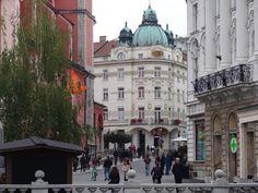 Pelas ruas de Ljubljana capital da Eslovênia