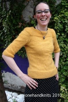 Sunny Sweater Knitting Pattern by OneHandKnits - purchase at http://www.ravelry.com/patterns/library/sunny-sweater