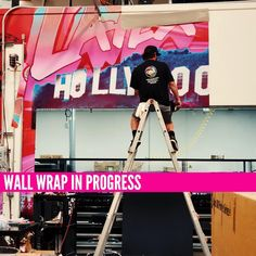 More from our series on the progress of our facility wall wrap, 106 feet printed and installed so far! . . . #CreativeGraphicServices #Installation #WallWrap #WallPaper #WallMural #Mural #EventProf #EventDecor #Graphics #GrandFormat #wallart #murals #MuralArt #Design Mural Art, Wall Murals, Wall Art, Event Planning Tips, Event Styling, Event Decor, Installation Art, Room Decor, Meet