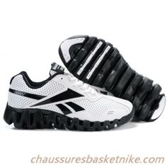 best service 86384 557e6 Reebok Chaussures de course Zigtech Blanc Noir Baskets Nike, Shoe Sale, Nike  Basketball,