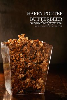 Harry Potter Butterbeer Caramelised Popcorn recipe | I don't think we'll ever get sick of Harry Potter movies! But we can make a Harry Potter movie night more special with this caramelised Butterbeer popcorn. (Note: this contains alcohol in the sauce)