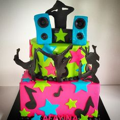 #cake #dance #hiphop #deejay #dj #birthday #sinfulsweets #colorful