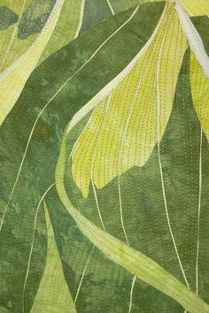 Close-up of quilting by Elaine Quehl