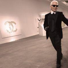 """Karl takes his bow, Chanel, Grand Palais."""