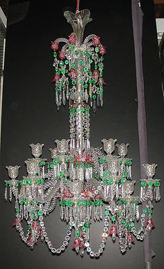 Glass Chandelier, English, c. 1825-50  holy crap i love this