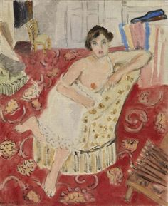 Red Rug: 1919-1920 by Henri Matisse (The Barnes Foundation, Philadelphia, PA) - Post Impressionism